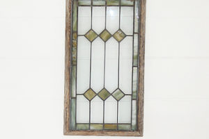 Framed Stain Glass  2 Pieces @ 15W x 27H