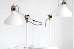 "Desk Lamps  5 Pieces  @  18""H"