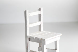 Wooden Chair Sculpture  8""