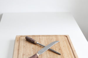 Cutting Board and Carving Tools