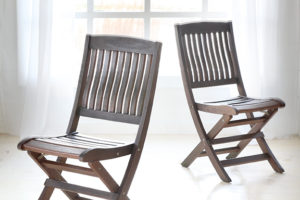 Teak Chairs  4 Pieces @ 16x16x36